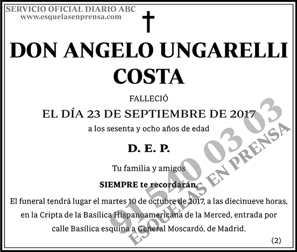 Angelo Ungarelli Costa